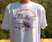 vintage 90s tee HONDA motorcycles gold wing biker smoky mountains t-shirt Large XL white