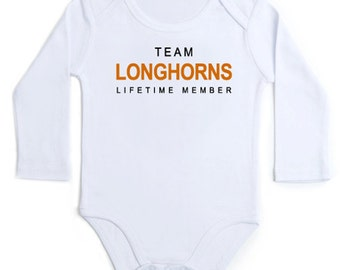 TEAM lifetime member long-sleeve one piece NEWBORN baby INFANT