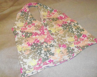 Multi Color Floral Print Recycled Tshirt Shopping Bag