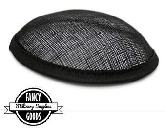 1 - Black - Round Hat Base - Sinamay Straw - Fascinator - Hat Foundation - Millinery