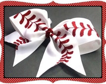 "3 "" Custom Baseball Cheer Bow by No Bow No Go!"