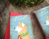 Shiba Inu Holiday Card set greeting cards by Stephen Fowler 12 pack