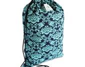 Royal Damask Drawstring Backpack