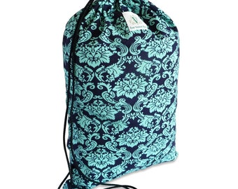 Royal Damask Drawstring Backpack