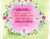 Oscar Wilde Love Quote Print