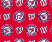 Washington Nationals Fabric Hair Scrunchie Scrunchies by Sherry MLB Baseball