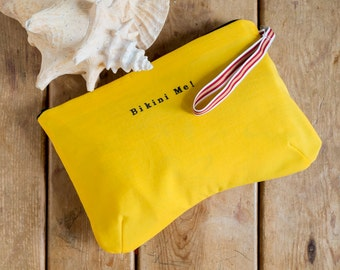 Bikini Bag, water resistant in yellow