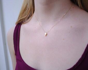 Tiny Cross Necklace
