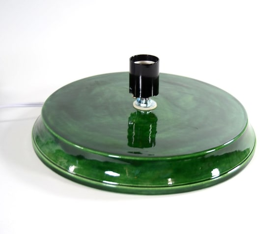Replacement ceramic christmas tree base universal large flat top made