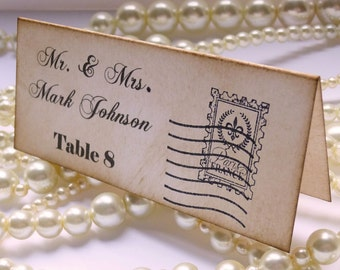 Wedding Place Cards, Escort Cards, Vintage Wedding, Thanksgiving Place Cards, Table Place Cards, Seating Plan, Etsy Wedding, UK Wedding