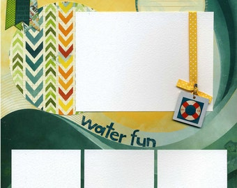Water Fun - Premade Scrapbook Page