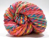 Hand Dyed Merino Wool - 2 Ply Bulky Weight Yarn – Red Rainbow Yarn – 59 Yards
