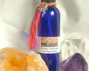 Energy Clearing Liquid Sage Smudge Spray Reiki Metaphysical Ritual Tool