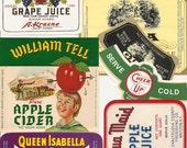 33 different old vintage  Soda juice etc...LABELS PEPPER UP , She, Etc..