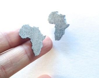 Silver African Earrings Pop Art Tribal Jewelry Urban Fashion African American Art