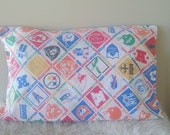 Vintage souvenir NFL football sports teams bedding standard pillowcase set