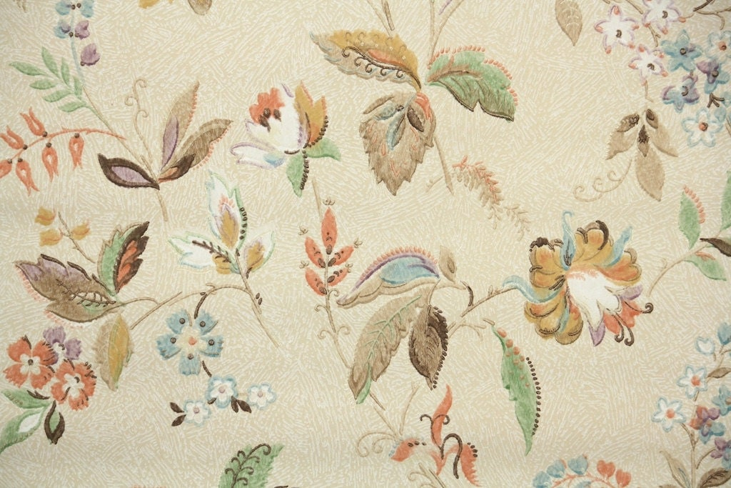 wallpaper vintage flowers cream - photo #14