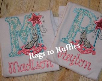 Cinderella Inspired Applique Shirt