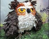 Orville Owl Soft Sculpture Bird