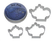 Teapot Cookie Cutters 3 Piece set