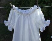 Prairie Nightgown Toddler Cotton Eyelet Lace Custom made