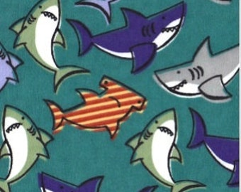 Last Pair....SHARKS flannel lounge pants/pajama pants children's sizes 0-3 to 5t
