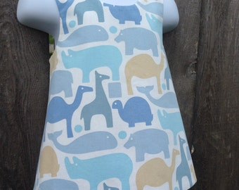 Silhouetted Animals Reversible Pinafore