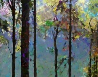 Nature, Modern Landscape, Springtime, Fine Art Print, Giclee Archival Print, Photomontage, Collage, Painted Photographs,