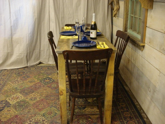 Counter Height Dining room Table Farmhouse 72 x