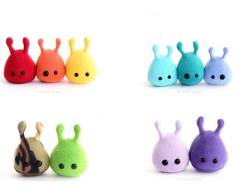 Custom Designed Stuffed Alien Plush, Small Plushie, MADE TO ORDER