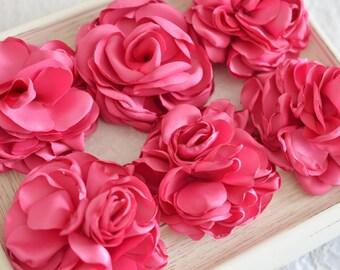 New! Set of 2pcs handmade silk flowers--dark carnation (FB1064)