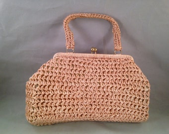Vintage Made in Japan Pink Champagne Purse