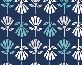 1 yard Navy Gracie Girl fabric - Riley Blake Design by Lori Holt