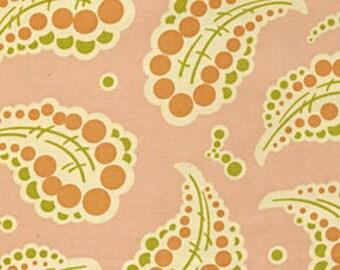 SALE 1 Yard Freshcut Pink Paisley fabric - Heather Bailey
