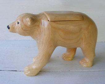 White Pine Bear Treasure Box
