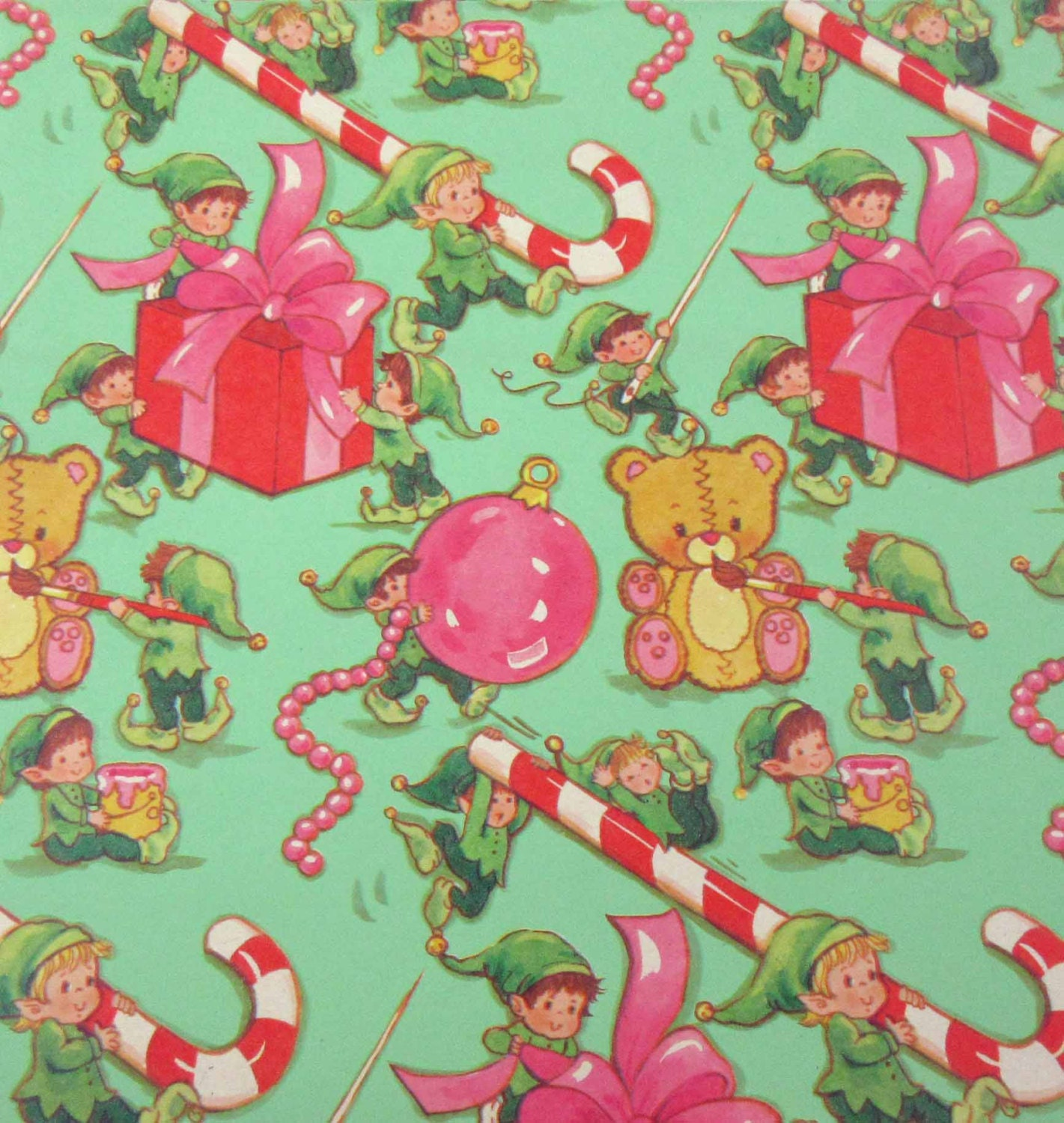 Vintage Green C... Vintage Christmas Wrapping Paper