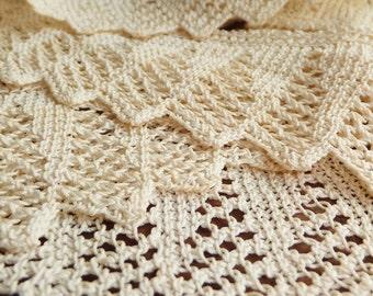 """Antique Lace Trim Crochet Lace Trim Knitted Lace Crocheted Lace Ribbon Scalloped Lace 2"""" Wide Lace Ribbon Trim"""