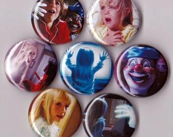 7 Poltergeist Pinback Buttons