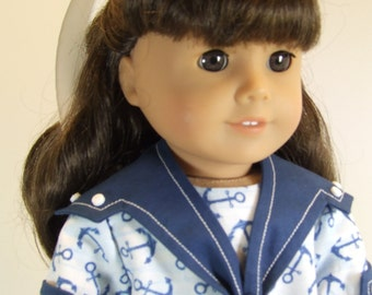 "Spring Sailor Dress for 18"" dolls"
