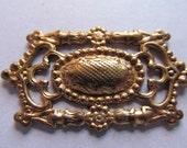 Vintage Brass Finding (1) Filigree Finding