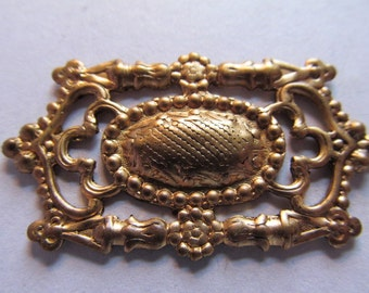 Vintage Brass Finding (1) Filigree Finding