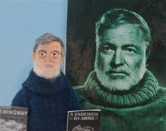 Ernest Hemingway Doll Art Miniature Farewell to Arms