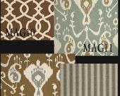 Custom Ikat, Stripe, or Lattice Drapes - Lined