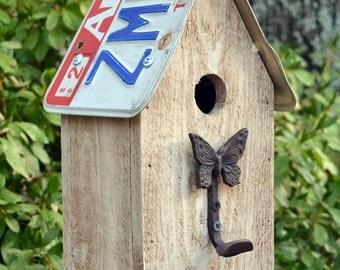 Rustic Birdhouse - Primitive Birdhouse - Butterfly Birdhouse