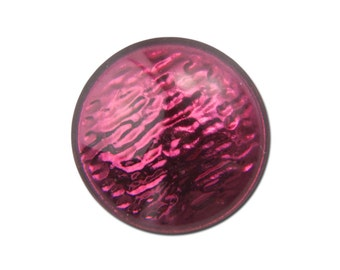 Vintage Metallic Burgundy Red Glass Cabochons 11mm (4) cab518A