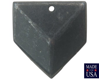 1 Hole Matte Black Plated Plated Geometric Triangle Charms Drops 18x18mm (6) mtl076K
