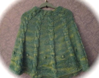 PDF Toddler's Easy Cabled Poncho