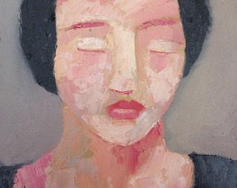 Original Oil Painting figurative impressiont portrait