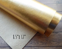 Metallic Gold Felt Sheet 8.5 x 12 - You Pick Quantity - Bold and Shimmery - the Perfect Gold