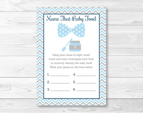 Guess The Baby Food Baby Shower Game Template